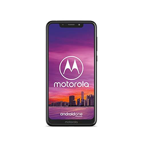 Motorola One Smartphone (14,98 cm (5,9 Zoll), 64 GB interner Speicher, 4 GB RAM, Android One) Schwarz, inkl. Schutzcover