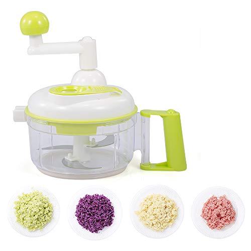 Decdeal Smile Mom A350 4 in 1 Food Processor Hand Crank Manual Food Chopper Meat Grinder Vegetable Mincer Egg Separator Fruit Blender