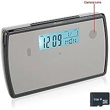 TEKMAGIC 8GB 1280x720P HD Reloj Despertador Cámara Espía Interior Activado por Movimiento de la Videocámara DV soporte de Video y Grabación de Audio