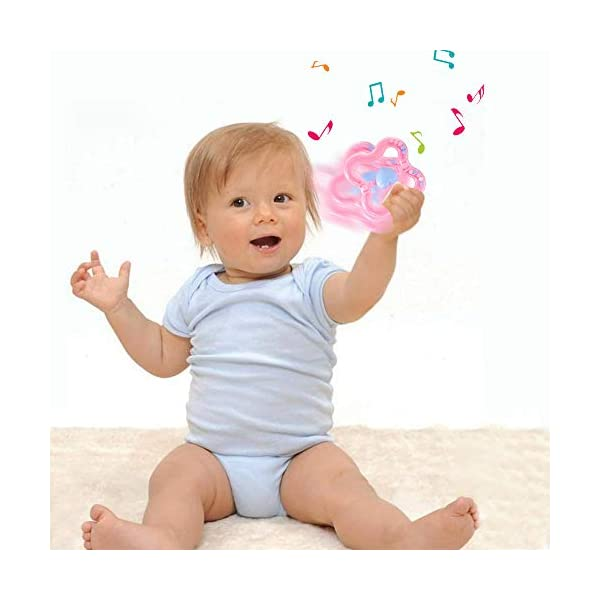 Vindar 10PCS Baby Rattles Teether Set,Grasping Grab Toy, Spin Shaking Bell, Sensory Teething Teether Rattle, Boiled Disinfection BPA Set for Infant Newborn Baby Toddler 3