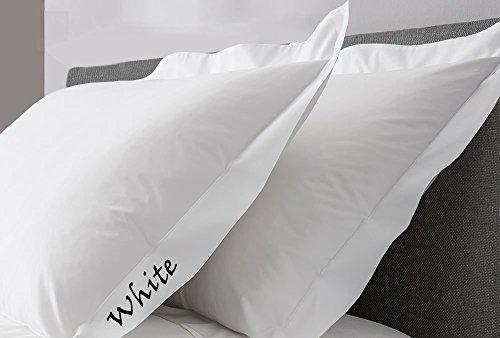 JB Leinen 350-thread-count Solid Ägyptische Baumwolle Oxford Style Kissen wählen Sie Farbe und Größe (alle Größen und Farben), 100 % Ägyptische Baumwolle, weiß, German/Extra Large Square (Baumwoll-350 Thread)
