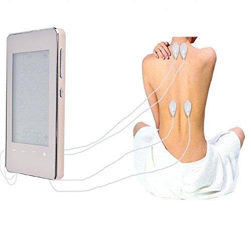 Jingfude elektronische Massager Schmerzlinderung Portable elektrische Stimulation Maschine TENS digitale Massager kostenpflichtige Schmerzlinderung Therapie EMS Muskel Stimulator mit 12 Modi, Touchscreen, zur Behandlung von Rücken Nacken Stress Ischias Schmerzen
