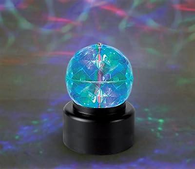 "Playlearn SPB6 LED High Power Rotating Crystal Kaleidoscope Disco Ball Light 4""- (Portable Battery Powered)"