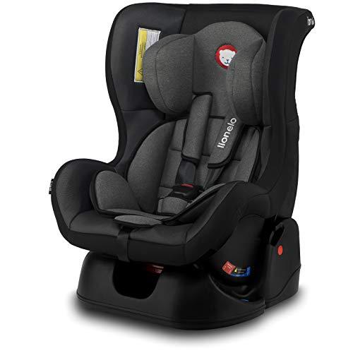 Lionelo LO-LIAM CARBON GREY Liam Kindersitz Autokindersitz Autositz 9-18kg Gruppe 0+ 1 dunkelgrau, 6.7 kg