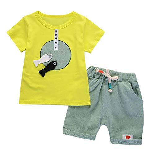 Ensembles de Bébé Kids❤️Robemon Toddler Bébé Kids Garçons Cartoon T Shirt Tops Pantalons Trousers Shorts Outfits