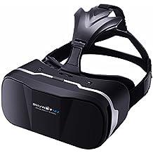 VR Gafas 3D,BlitzWolf Gafas Realidad Virtua de 4,7-6 Pulgadas VR Cardboard Versión Mejorada para IOS iPhone SE 6 6s plus, Android Samsung Galaxy S5 S6 S7 Edge Note 4 5 (Versión Actualizada)