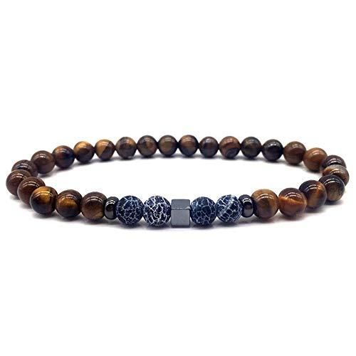 Armband Armreif,Schmuck Geschenk,Fashion New Men Beaded Bracelets Classic Stone Bead Charm Bracelets & Bangles for Men Jewelry Gift - Loom Armband Organizer