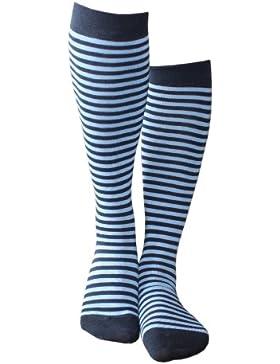 Weri Spezials Ringel - sind immer im Trend! Auch beim Kinderkniestrumpf! in Marine+Mittelblau