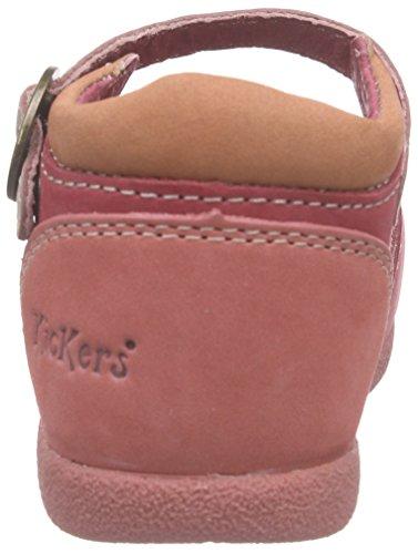 Kickers 469640, Chaussures Bébé marche bébé fille Rouge (Rouge/Rose)