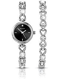 Sekonda reloj para mujer de cuarzo con esfera analógica y pulsera de plata de 2192 G