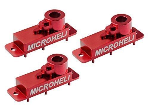 Microheli Aluminum Upper Servo Case set (RED) (for Spektrum H2060) by Microheli Co.