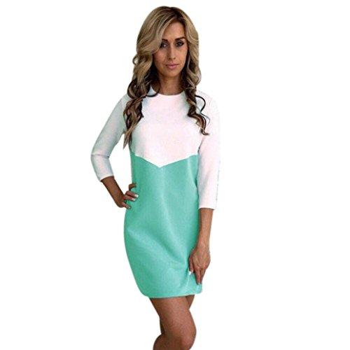 Robes, Malloom® Aux femmes Bodycon Robes de soiree Fête Soir Mini robe de patchwork Menthe verte
