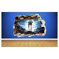 Thorpe Signs Star Wars Battlefront 3D Style smashed wall sticker kids children bedroom vinyl (Large: 80cm x 58cm)