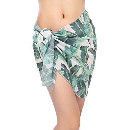 TENDYCOCO Frauen Strand vertuschen Bademode Badeanzug Wraps Hawaiian Party Kostüm (grüne Bananenblätter) (Für Frauen-party-stadt Kostüme)