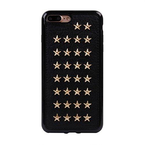 GHC Cases & Covers, Für iPhone 7 Plus Niet-Art-Muster TPU + Metall weicher schützender rückseitiger Abdeckungs-Fall ( SKU : Ip7p1211x ) Ip7p1211t