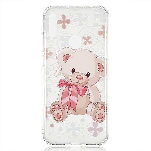 Crystal Skin Tpu Case (Thoankj Schutzhülle für Huawei Y6 2019/Y6 Pro 2019/Honor 8A, stoßfest, transparent klar Crystal Soft Flexible TPU Bumper Case Ultra Dünn Slim Fit Silikon Rubber Grip Skin Phone Cover)
