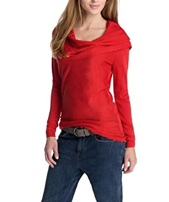 ESPRIT Pull-over Col châle Manches longues Femme - Rouge - Rot (603 rowan berry red) - 40