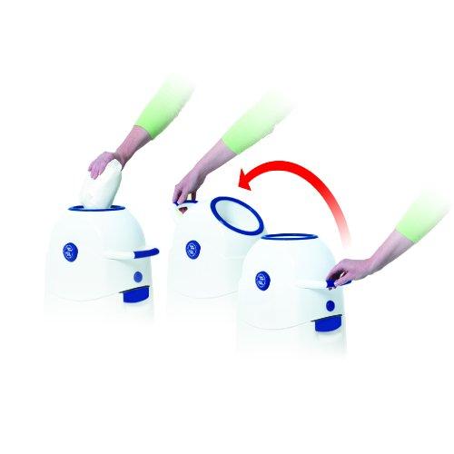 Geruchsdichter Windeleimer Diaper Champ regular magenta – für normale Müllbeutel - 2