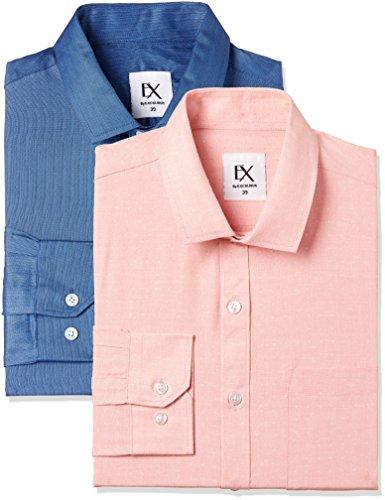 Excalibur Ex by Men's Solid Regular Fit Formal Shirt (Pack of 2)...