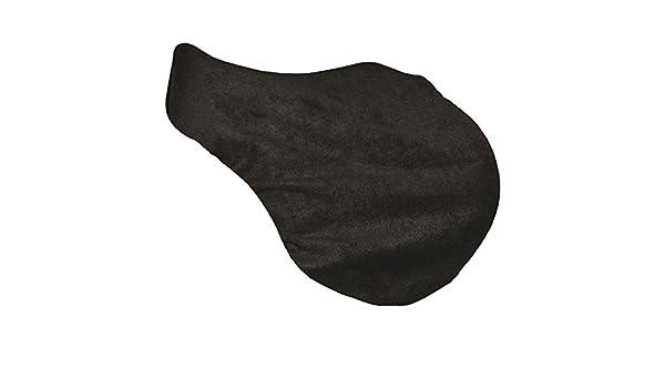 SPARTAN Unisexs Black Saddle Cover Fleece Dressage Full