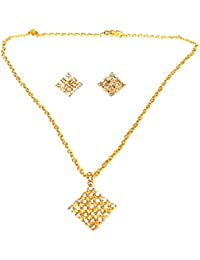 Kpax Fashions Golden Color Alloy Necklace Set For Women,KPX02
