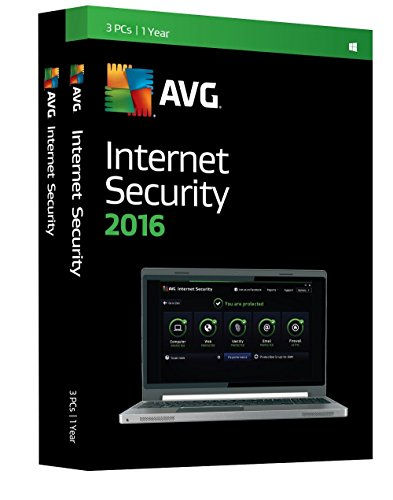 AVG Internet Security 2016 - 3 PCs, 1 Year (DVD)