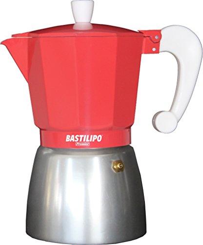 Bastilipo Colori 12 Cafetera, Aluminio, Coral