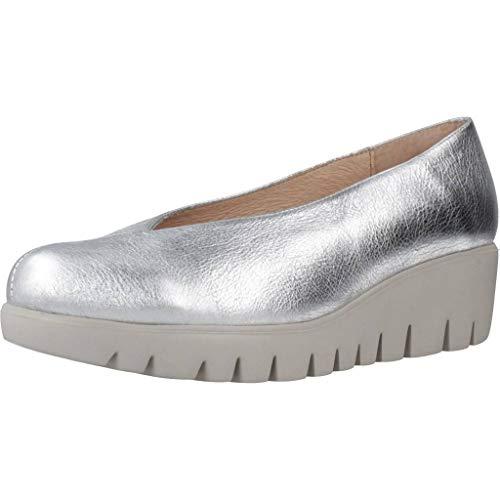 Wonders Zapatos Bailarina Mujer C33213 para Mujer Plateado 37 EU