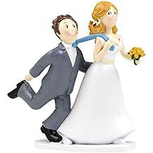 Mopec Y251 - Figura de pastel novios sí o sí tirando de la corbata, 19 cm