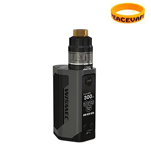 NUOVO Genuino WISMEC REULEAUX RX GEN3 300W GNOME sub ohm tank STARTER KIT (Nero) Sigaretta elettroniche con PEACEVAPE Banda Extra