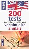 200 tests de vocabulaire anglais...