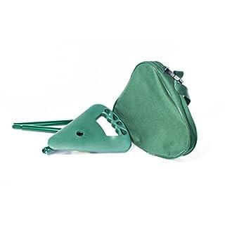 activera Spazierstock mit Sitz dunkelgrün faltbar und höhenverstellbar mit Tasche und Reflektorclip