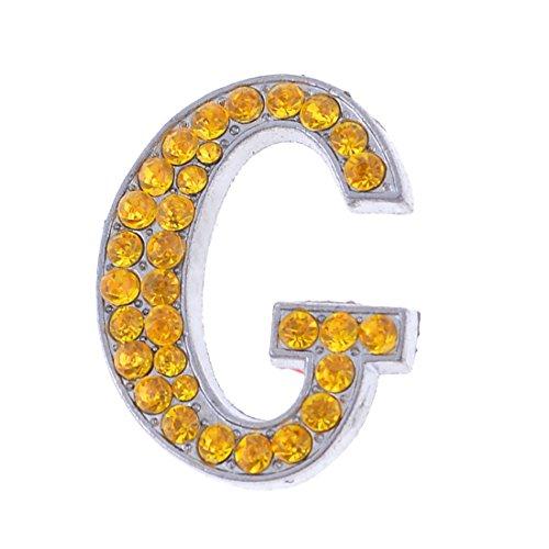 Preisvergleich Produktbild Auto-Kleber Strass-Dekor Buchstaben G geformte 3D Sticker Goldton