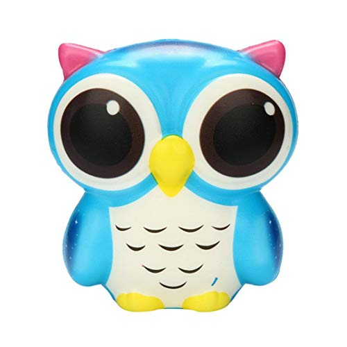 Iuhan Owl Squishies Toys S Squishies Slow Rising Jumbo Kawaii Cute Owl Scent S Party Toys Stress Reliever Toy As The Picture Shows Blue
