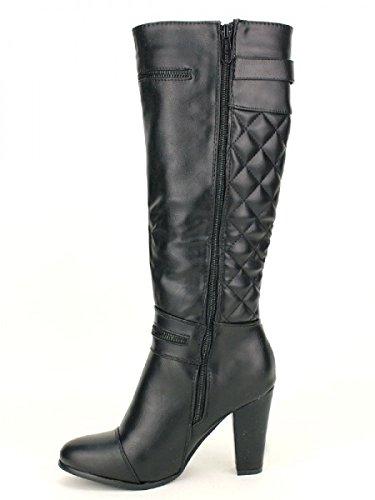 Cendriyon, Botte Noire LIBRAPOP Mode Chaussures Femme Noir
