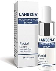 LANBENA Hyaluronic Acid Serum Snail Extract for Skin & Face Hydrating Moisturizing Anti-Aging S