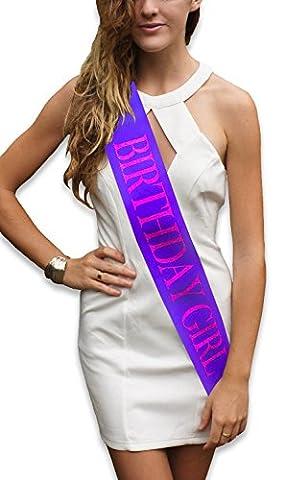 50s Écharpe - Echarpe violette brillante de «Birthday girl» -