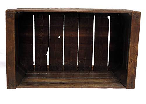 Restaurierte Vintage Buche Truhe Walnuss braune Farbe- Möbel, Regale, Bücherregale - alte Obstboxen - Holzkisten - -