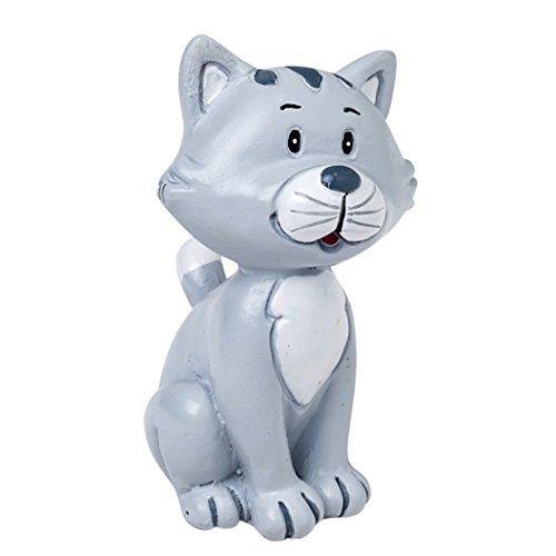 Mopec Figura Pastel de Novios con Mascota Gato, Poliresina, Gris, 3.5x3x5.5 cm, 2 Unidades