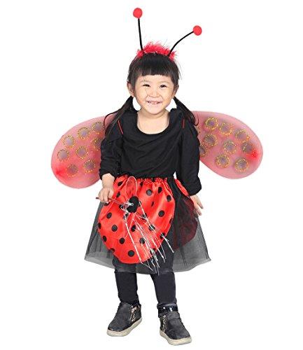 Ja11 98-104 Flügel Kostüm Kind Kinder Kostüme für Karneval Fasching (Marienkäfer Für Erwachsene Kostüm-ideen)
