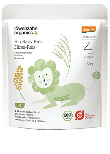 Löwenzahn Organics Demeter Getreidebrei Hirse-Reis