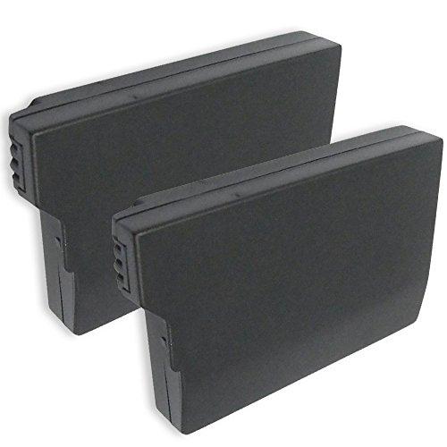 2x subtel® Qualitäts Akku für Sony PSP Brite (PSP-3000 / PSP-3004) / PSP Slim & Lite (PSP-2000 / PSP-2004) (1200mAh) PSP-S110 Ersatzakku Batterie (Psp Slim Ersatz)