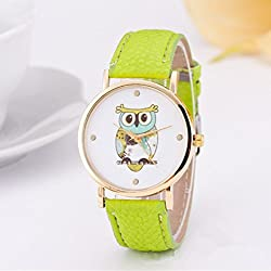 New Arrival Fashion Watch Women Leather Strap Owl Pattern Simple Elegant Style Casual Quartz Watch Relogio Feminino Wristwatch
