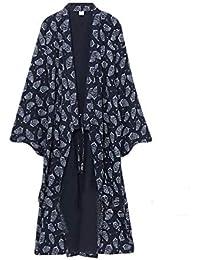 Männer Yukata Robes Kimono Robe Khan Gedämpfte Kleidung Pyjamas # 07