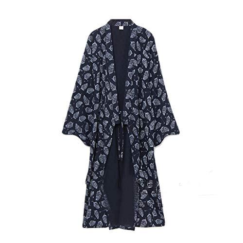 Hombres yukata Robes Kimono Robe Khan Vapor Ropa Pijamas # 07