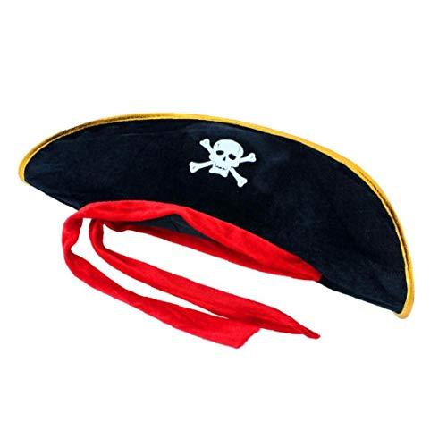 Schädel-Piraten-Kostüm-Halloween-Party Supplies Adult Cap - Piraten Kapitän Adult Kostüm