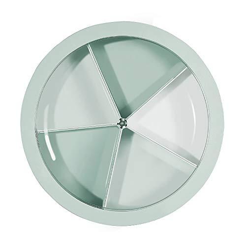 (HAYAN Creative Snackschale Set Servierplatte Snackschale Schalen mit Deckel, grün, approx 11.2″ diameter * 3.1″ height)