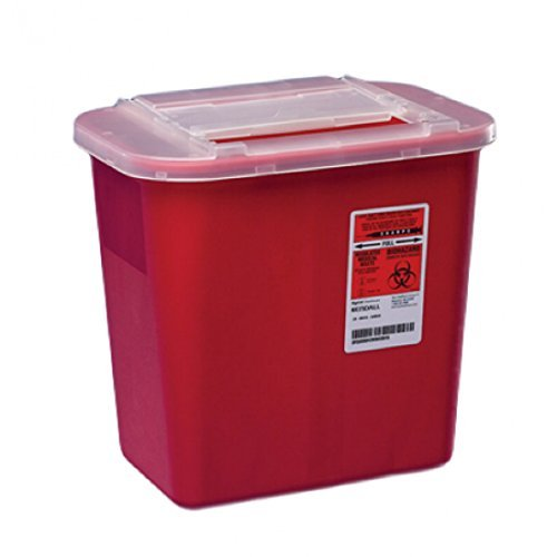 Kendall Red 2 Gallon Sharps Container - Model 31142222 by Kendall/Covidien by Kendall/Covidien - Red Sharps Container