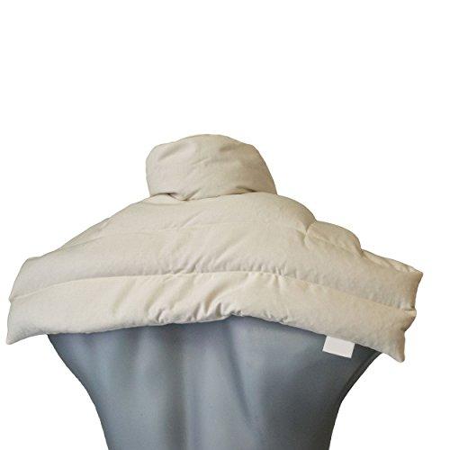 Leinsamenkissen Schulter & Nackenkissen mit Kragen | Bio-Stoff natur | Gute Wärme für den Nacken | Eine Alternative zum Nackenhörnchen -