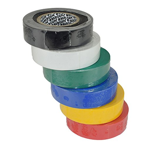 cedb71077581 PVC Insulation Electricians Electrical Tape Mixed Colour 6 Reels Flame  Retardant